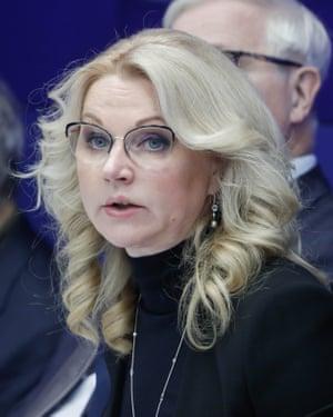 Russia's deputy prime minister Tatiana Golikova.