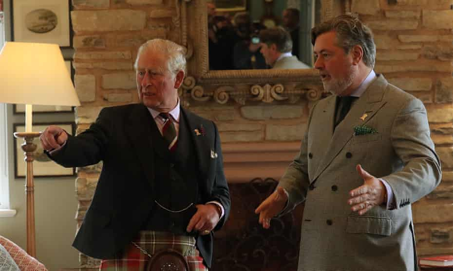 The Prince of Wales with Michael Fawcett