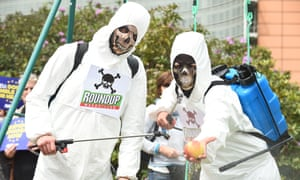 An Avaaz protest in Brussels, at the EU's plans to relicense glyphosate – the licence was extended in 2017 for five years.