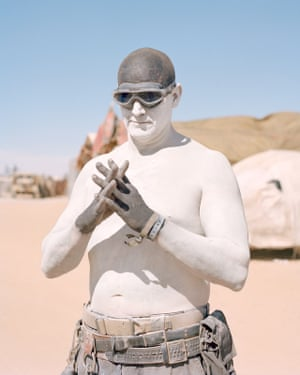 "Wasteland Weekend 2018Ace, from the War Spawn tribe dressed as a War Boy from Mad Max: Fury Road. ""Once you attend the event, it feels like a big family gathering with everyone welcoming you in."""
