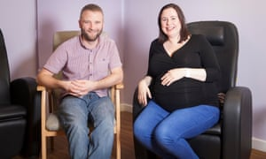 James Iball and Nicola Murphy from Liverpool await Nicola's planned caesarean section.