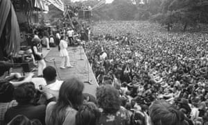 The Rolling Stones performing in Hyde Park, 5 July 1969