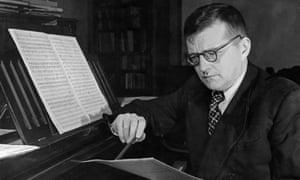 Dmitri Shostakovich, working at his piano in 1950.