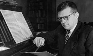 Shostakovich at his piano in 1950