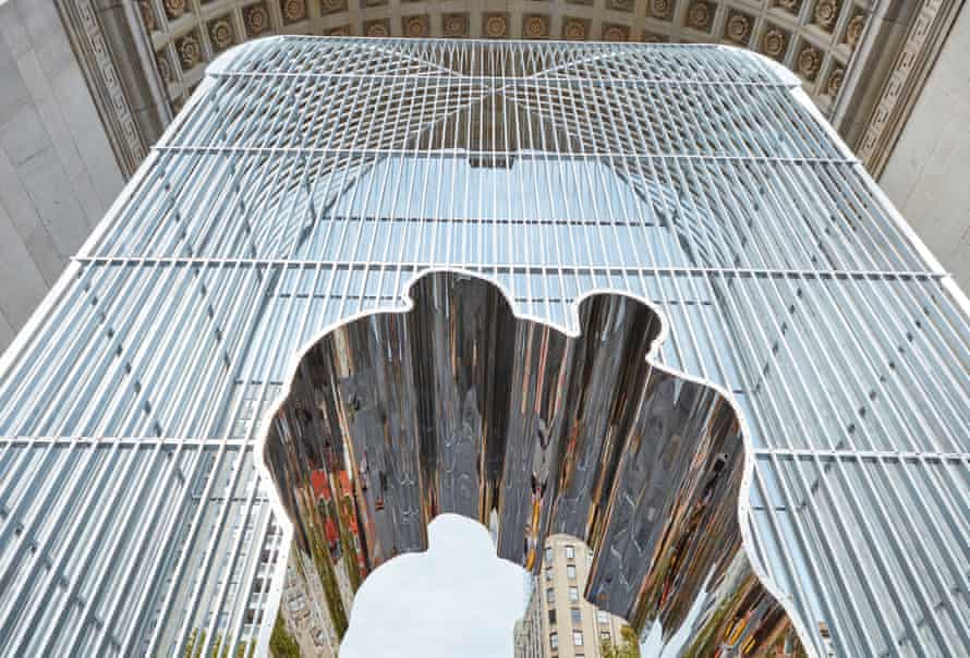 The Washington Square Park installation that makes up part of Ai Weiwei's project.