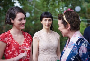 Fleabag with Phoebe Waller-Bridge, left and Olivia Colman, right