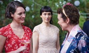 With Sian Clifford and Olivia Colman in Fleabag the TV show.