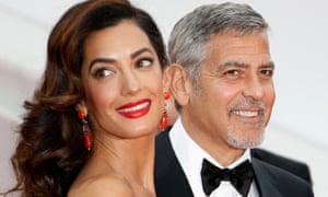 Amal and George Clooney, who have just had twins.