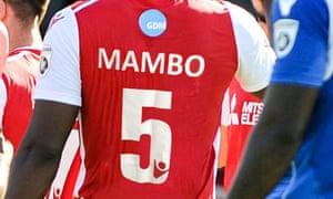 Yado Mambo models the limited-edition shirt.
