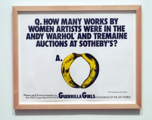 An artwork by the Guerrilla Girls at Tate Modern.