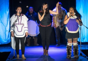 The performers from Nunavut created a performance which was incorporated into the sold out Fashion Show on the final night of Adaka.