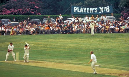 A general view of the Nevill Ground at Tunbridge Wells during a John Player League match between Kent and Surrey in June 1970.