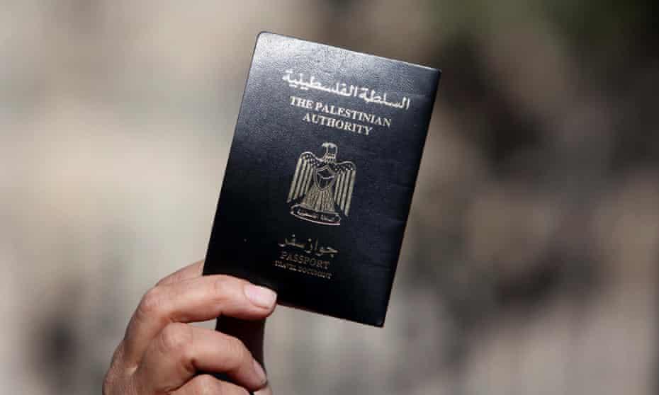 A Palestinian passport