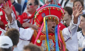 'Each country brings travelling circuses of their supporters, who convey the impression that they are delighted simply to be competing here.'