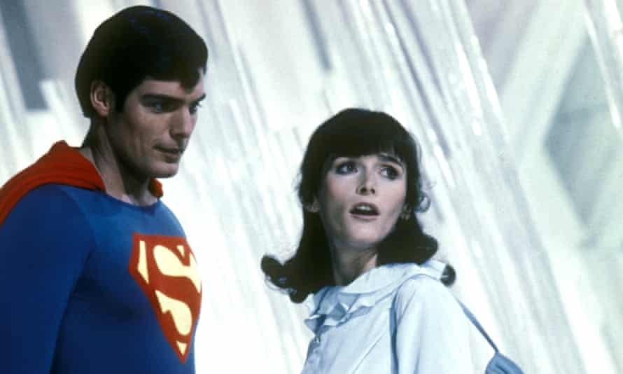Christopher Reeve and Margot Kidder in Superman 2.