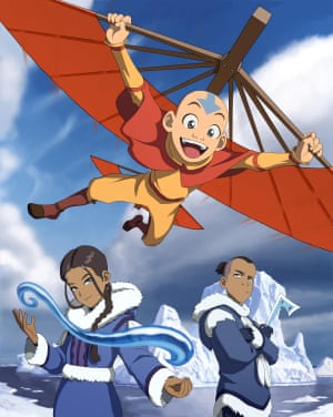 (From left) Katara, Aang and Sokka in Avatar: The Last Airbender