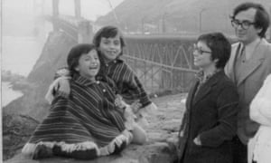 Carmen (second left), her sister Ale (left), and their parents, in San Francisco, December 1974. The family fled from Chile following Pinochet's coup.