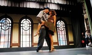 Channing Tatum and Jenna Dewan in Step Up.