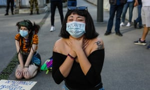 Flash mob under the American consulate in Milan to protest the death of George Floyd, the African-American man killed suffocated by a policeman in Minneapolis during a police arrest