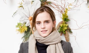 Silent witness: Emma Watson, who went on a retreat after a painful break-up.