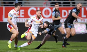Sam Tomkins and the erst of the Catalans Dragons squad and staff will have to relocate to England when the season resumes.