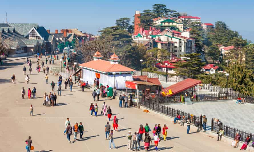 The Ridge road, a large open space in the heart of Shimla