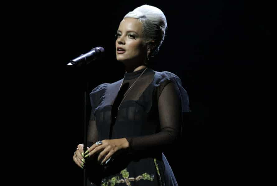 Lily Allen performs at the Mercury ceremony.