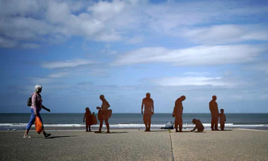 A sculpture on Colwyn Bay's promenade.