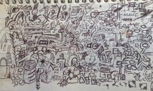 black biro doodle