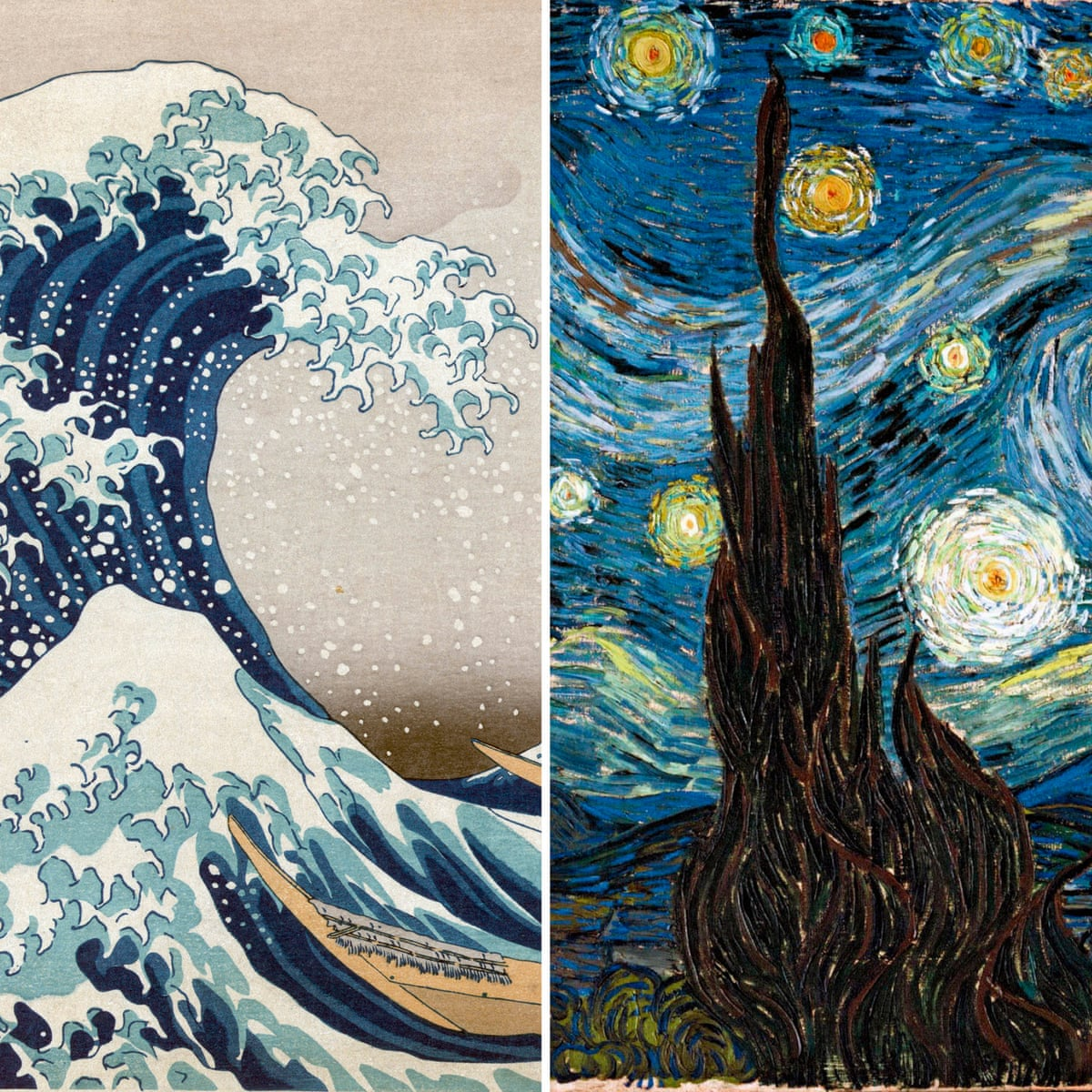How Hokusai S Great Wave Crashed Into Van Gogh S Starry Night Vincent Van Gogh The Guardian