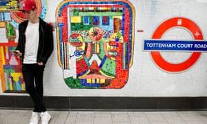 Renovated mosaics at Tottenham Court Road