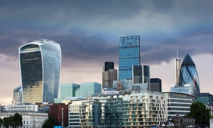Twenty Fenchurch Street, the Leadenhall building and the Swiss Re Tower in the City of London