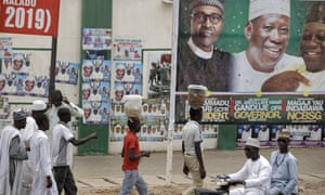 Election posters remain on the streets of Kano, three days after voters went to the polls.