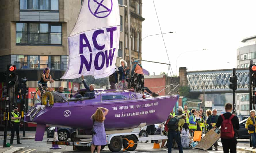 Climate protesters in Glasgow