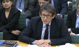 Alan Rusbridger appears before the home affairs select committee on 13 December 2013