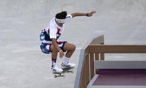 Mariah Duran competes during the women's skateboarding