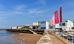 The Margate seafront and the Turner Contemporary gallery