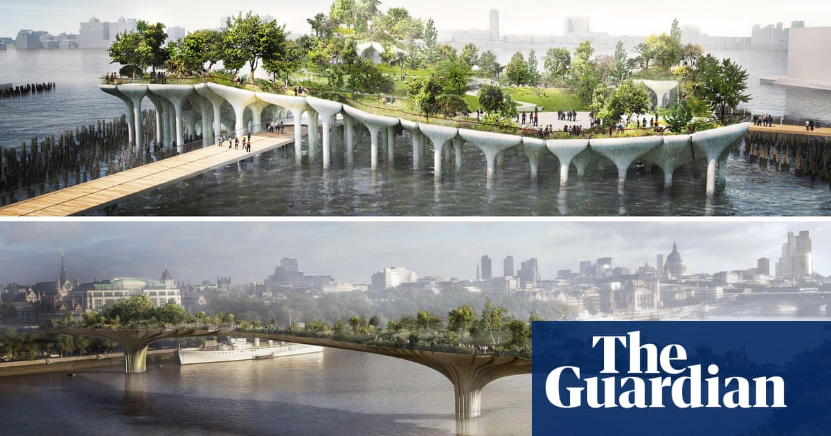 Garden Bridge V Pier 55 Why Do New York And London Think So Differently Cities The Guardian