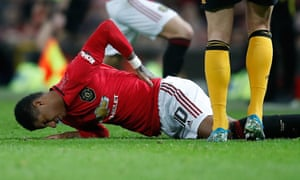 Marcus Rashford suffered a double stress fracture of his back against Wolves