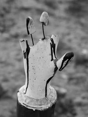 A makeshift memorial commemorating the massacre of Tamil civilians at the hands of the Sri Lankan army near the end of the war.