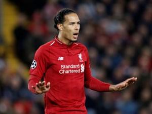 Liverpool's Virgil van Dijk appeals for calm
