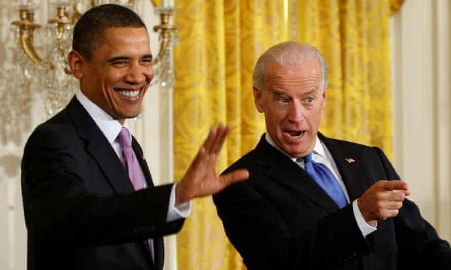 Barack Obama and Joe Biden at the White House in Washington DC, on 21 January 2010.