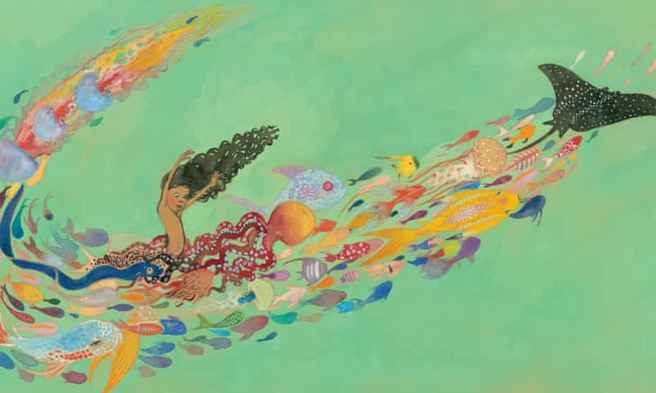A spread from Julian is a Mermaid by Jessica Love