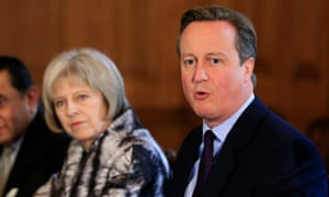 Former prime minister David Cameron with the current prime minister Theresa May, pictured in 2015.