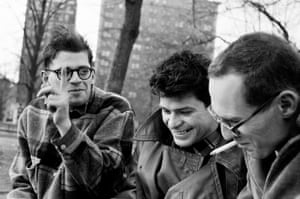 Allen Ginsberg, Gregory Corso, and Barney Rosset, New York City 1957 … to Manhattan's Washington Square Park feature in Ginn's snapshots of a heady time of cultural innovation