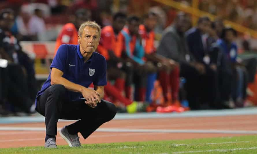 'Klinsmann inhabits an uncomfortable sartorial middle ground, unconsciously mirroring the interstitial mediocrity of his charges on the field of play.'