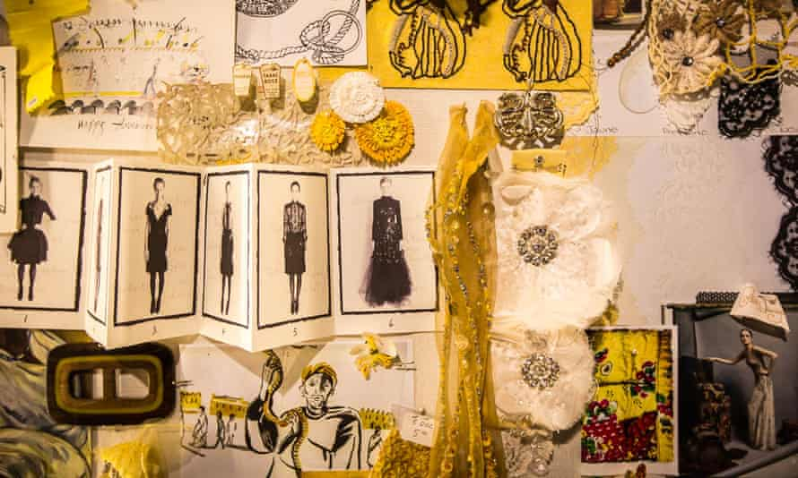 Close-up photograph of a Collette Dinnigan mood board.