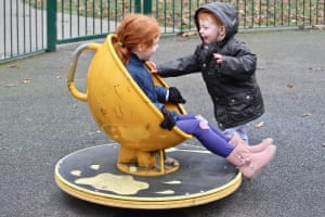 Storm in a teacup?My grandchildren - about to fall out over 'turns' in the teacup! Photograph: PMK052/GuardianWitness