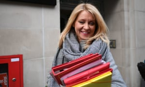 Esther McVey leaving her home in London this morning.