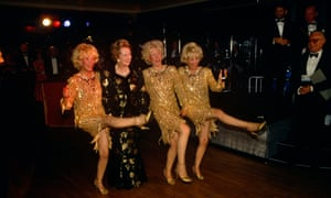 Then prime minister Margaret Thatcher with the Beverley Sisters at the 1990 Conservative Party conference in Blackpool.